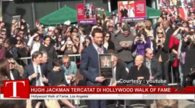 Hugh Jackman Tercatat di Hollywood Walk of Fame