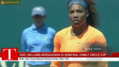 Duel Williams Bersaudara di Semifinal Family Circle Cup