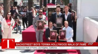 Backstreet Boys Terima Hollywood Walk of Fame