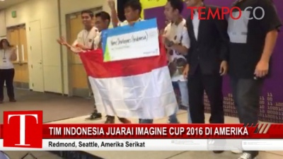 Tim Indonesia Juarai Imagine Cup 2016 di Amerika