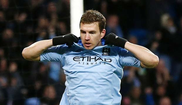 Edin Dzeko. REUTERS/Darren Staples