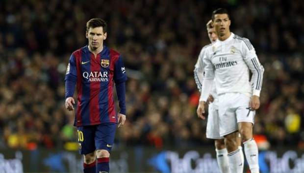 Lionel Messi dan Cristiano Ronaldo. Mirror.co.uk/Angel Martinez