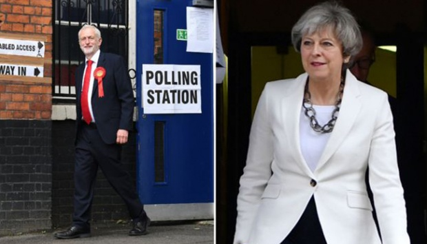 Jeremy Corbyn dan Theresa May. bbc.com