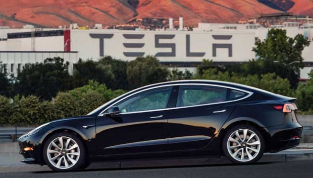 The Tesla Model 3 sedan. (Courtesy of Tesla Motors via AP)