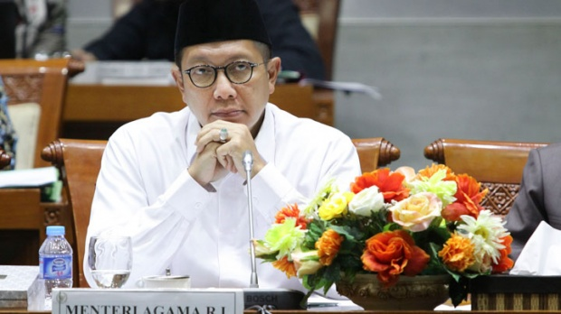 Minister of Religious Affairs, Lukman Hakim Saifuddin during attend meeting with Commission VIII House of Representative in parliament, Jakarta, Spet 14, 2017. TEMPO/Dhemas Reviyanto