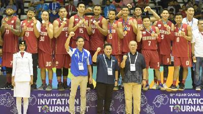 Basket Indonesia Raih Emas dalam Test Event Asian Games 2018