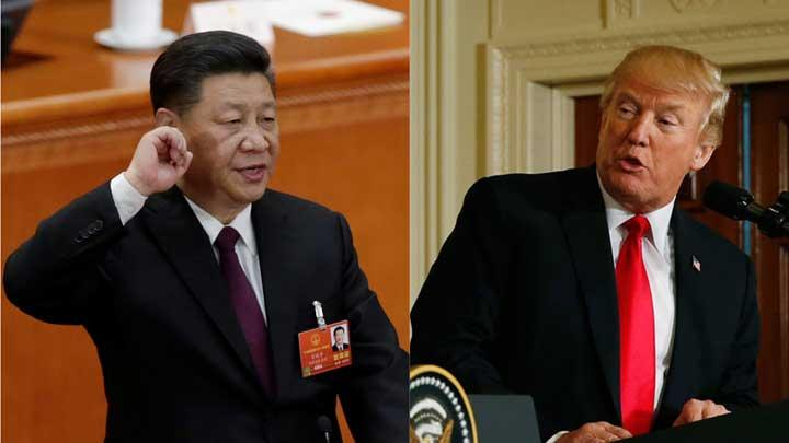 Presiden Cina, Xi Jinping dan Presiden AS, Donald Trump. REUTERS