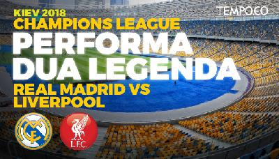 Bentrok di Final Champions League, Madrid Hadapi Liverpool