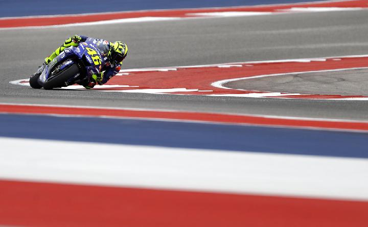 Pembalap MotoGP. Valentino Rossi. AP Photo/Eric Gay