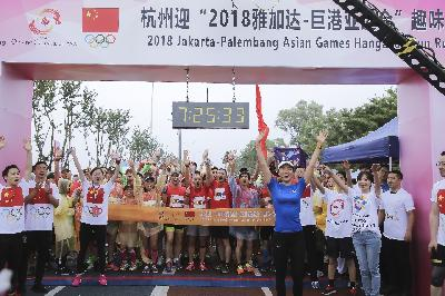 Asian Games 2018 Fun Run di Hangzhou, Cina Penuh Warna
