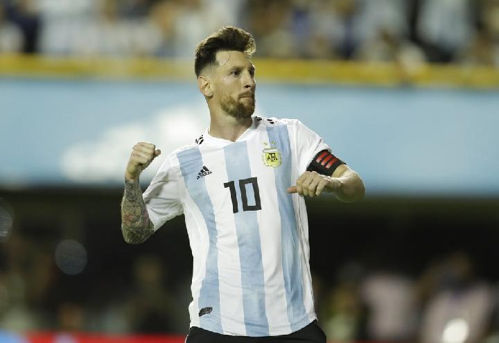 Pemain Argentina, Lionel Messi. AP Photo/Victor R. Caivano