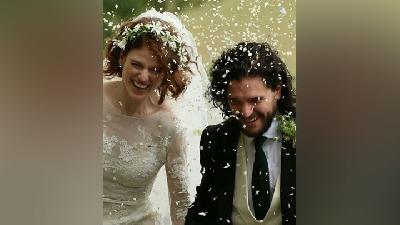 Gaun Pengantin Rose Leslie Aktris Game of Thrones Bergaya Vintage
