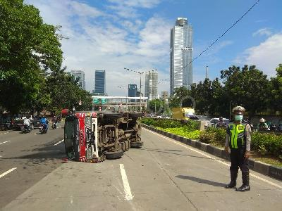 Jakarta Metro Police Report an Increase in Traffic Accidents