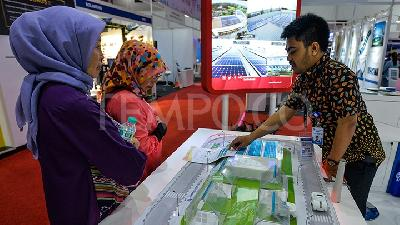 Suasana Pameran Indonesia Building Mechanical & Electrical