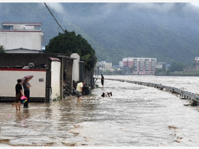 Floods in China Force Evacuation of Nearly 80,000