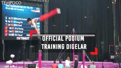 Official Podium Training Digelar di Venue Gymnastic Asian Games