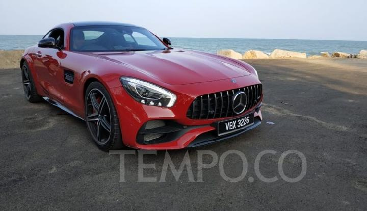 Mercedes-AMG GT C saat Dream Cars Collection Media Drive di Pahang, Kuantan, Malaysia, 28-29 Agustus 2018. TEMPO/Wawan Priyanto.