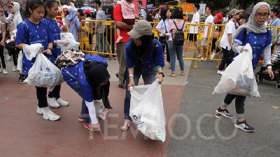 Selama Asian Games 2018 Terkumpul 17 Ton Sampah Plastik