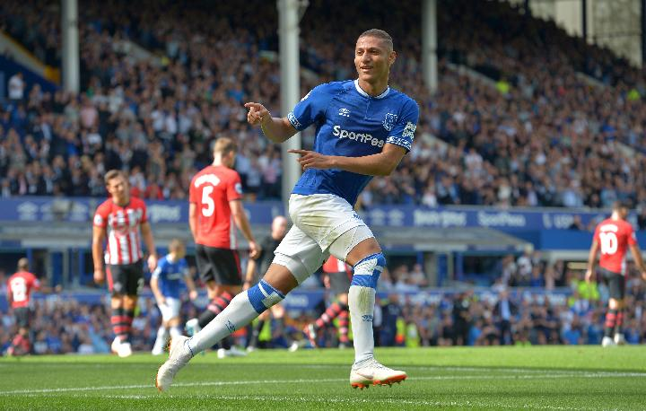 Pemain Everton Richarlison. REUTERS/Peter Powell