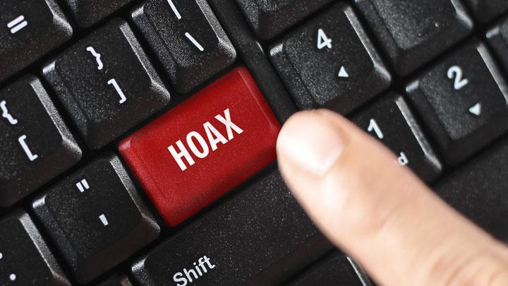 Hoax illustration. shutterstock.com