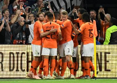 Hasil UEFA Nations League: Tahan Jerman 2-2, Belanda ke Semifinal
