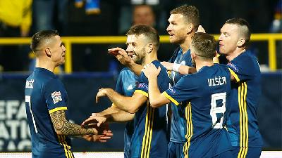 Bosnia Tekuk Irlandia Utara dalam UEFA Nations League