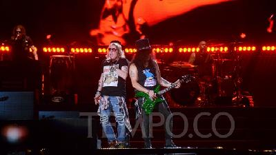Guns N Roses Bawakan Sweet Child O' Mine, Stadion GBK Bergemuruh