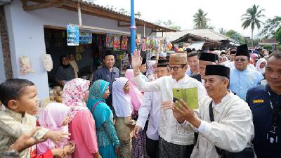 Sandiaga Uno Speaks of Economic Liberalism during Campaign Visit