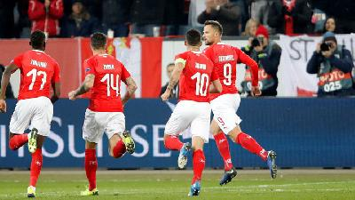 UEFA Nations League : Swiss Bantai Belgia 5-2