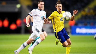 Hasil UEFA Nations League: Swedia Kalahkan Rusia 2-0