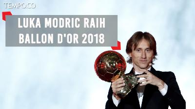 Pemain Real Madrid, Luka Modric Raih Ballon d'Or 2018