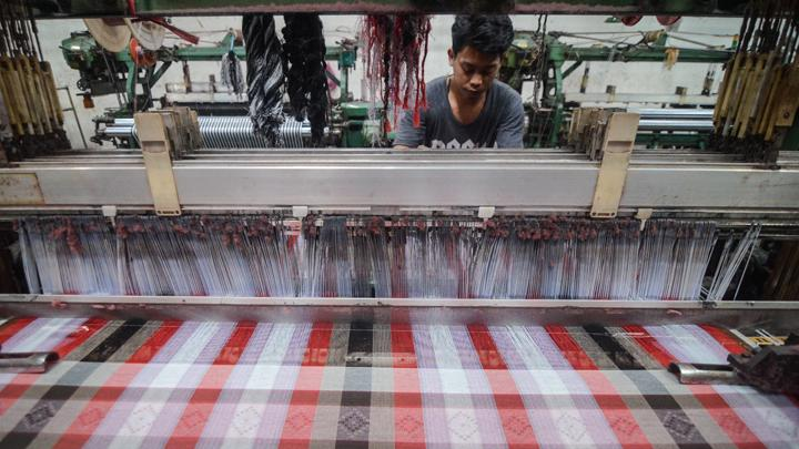 A textile factory at industrial zone Majalaya, Bandung Regency, West Java. ANTARA FOTO/Raisan Al Farisi