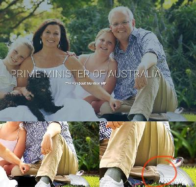 Edited Image Embarrasses Australia's PM with Two Left Feet