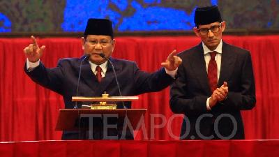 Prabowo Favors Non-Aggressive and Respectful Style of Debate