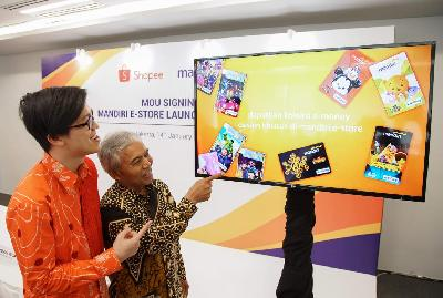 Gandeng Shopee, Mandiri Jualan E-money di Platform Digital