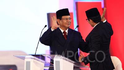 Prabowo Lauds First Election Debate despite High Tense