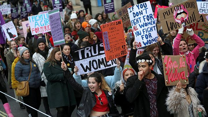 Serukan Kesetaraan, Women's March Digelar di London