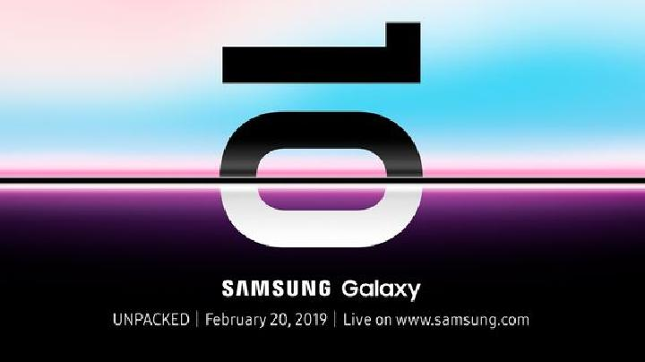 Poster peluncuran Samsung Galaxy S10. Kredit: USA Today