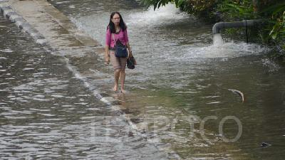 Waters Flood Mangga Dua Area, North Jakarta
