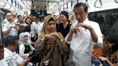 Jokowi Addresses Disabled Passenger Complaints of MRT Jakarta