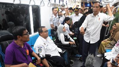 MRT Jakarta Fixes Facility for Disabled following Jokowi's Critic