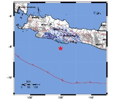 4.1M Earthquake Strikes West Java's Pangandaran