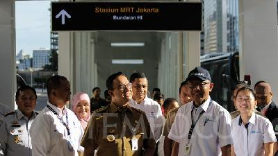 Jakarta Legislators Agree on MRT Tariff Scheme