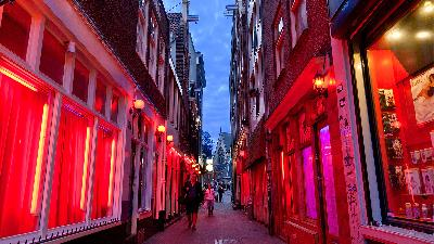 April, Red Light District Amsterdam Tak Terima Lagi Tur Wisata