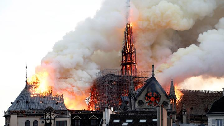 Images of Notre Dame Cathedral Burns in Paris
