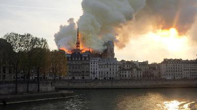 Fire Guts Notre Dame Cathedral in Paris