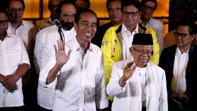 The Incumbent Jokowi Leads in Early Vote Count