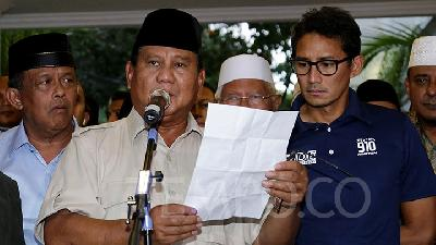 Prabowo Claims to Have Yet Met Jokowi's Envoy
