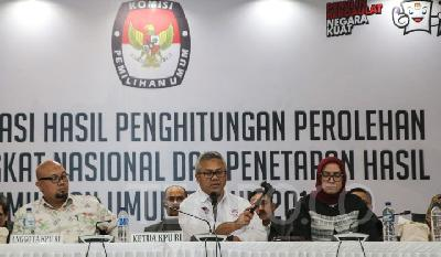 KPU: Jokowi Winning 55.5 Percent in Indonesian Election