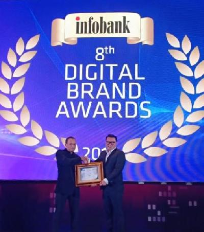 Perum Perindo Raih Peringkat Pertama Digital Brand of The Year 2019
